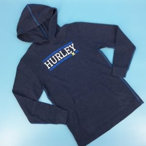 Hurley Blue Thermal Hooded Pull-Over Boy's M 10/12